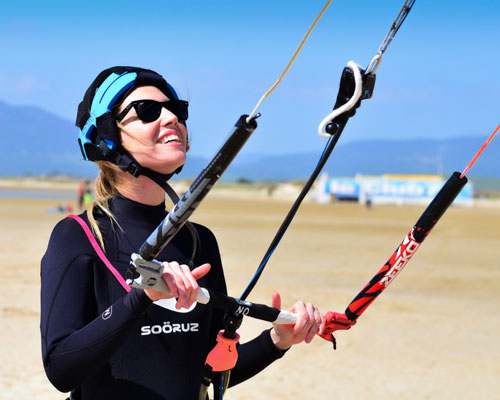 Learn and get started with kitesurfing this summer in Tarifa, beginner kite lessons.