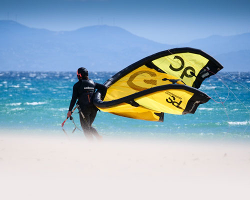 Find out more about our kitesurfing gear, eleveight kite available for rental.