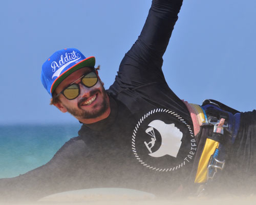 Meet the team of IKO kitesurfing instructors of Addict kite school Tarifa.