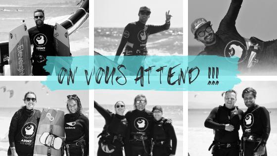 Nos moniteurs français vous attendent pour l'ouverture de notre école de kite.
